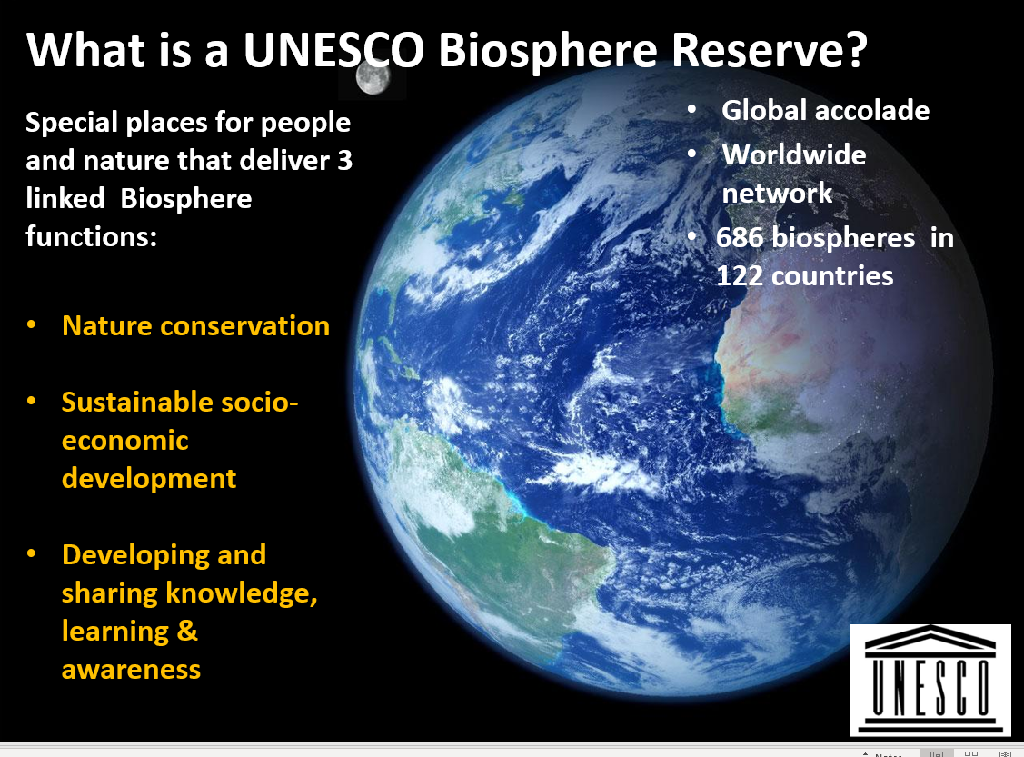 snip - what is a bioshere reserve